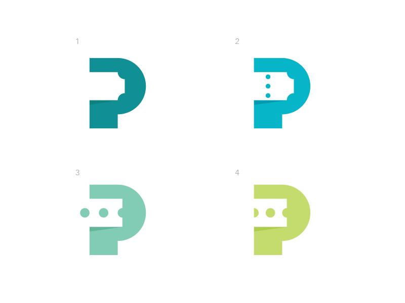 P Ticket p date event mark identity branding swap smart simple symbol ticket tickets