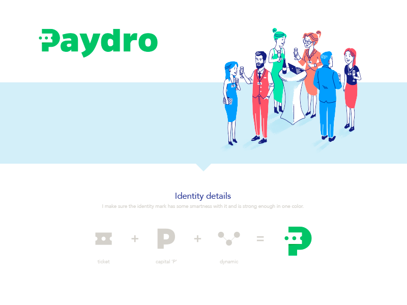 Paydro: Logo Re-branding monogram p payer pay ticket icon mark branding identity rebranding logo