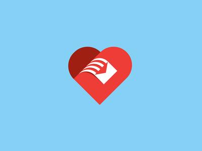 LoveLetter envoy icon romantic romance couple lovers loved valentine mail letter heart love