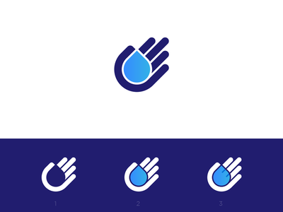 Water Hand moist moisture wet liquid chemical chemic icon logo symbol water drop hand