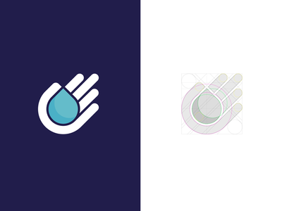 HandDrop moist moisture wet liquid chemical chemic icon logo symbol water drop hand