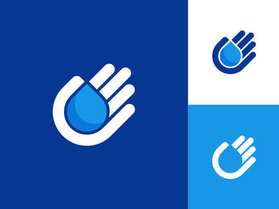 HandDrop 2 moist moisture wet liquid chemical chemic icon logo symbol water drop hand