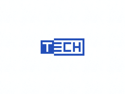 Tech Wordmark usb negative space lettering logo word mark connect techno hardware chips chip technology tech