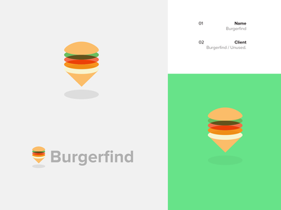 Burgerfind / Portfolio Update icon layers sandwich area local food burgers locate find burger