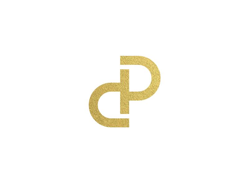 DP Monogram branding minimal line foil gold identity lettering letters monogram dp p d