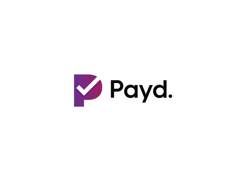 Paid idea money payd payment check monogram p logo paid