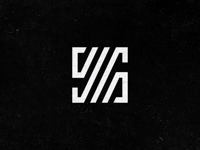 S Monogram square grid strokes ligature letter number identity logo s monogram 56