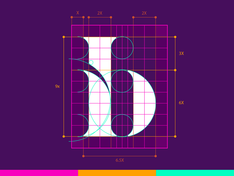 Ib Monogram. letters lettering monogram board grid innovate innovation ib b i