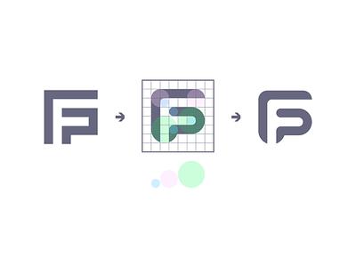 FP Monogram - Suggestion branding identity logo monogram f p