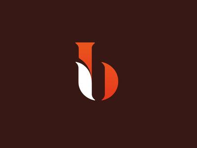 Ib - Fox monogram lettering letters innovate forward grow smart fox board innovation
