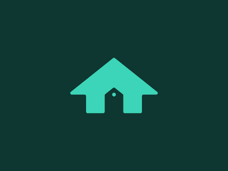 Home Rent tag real estate up arrow icon branding identity logo house rent home