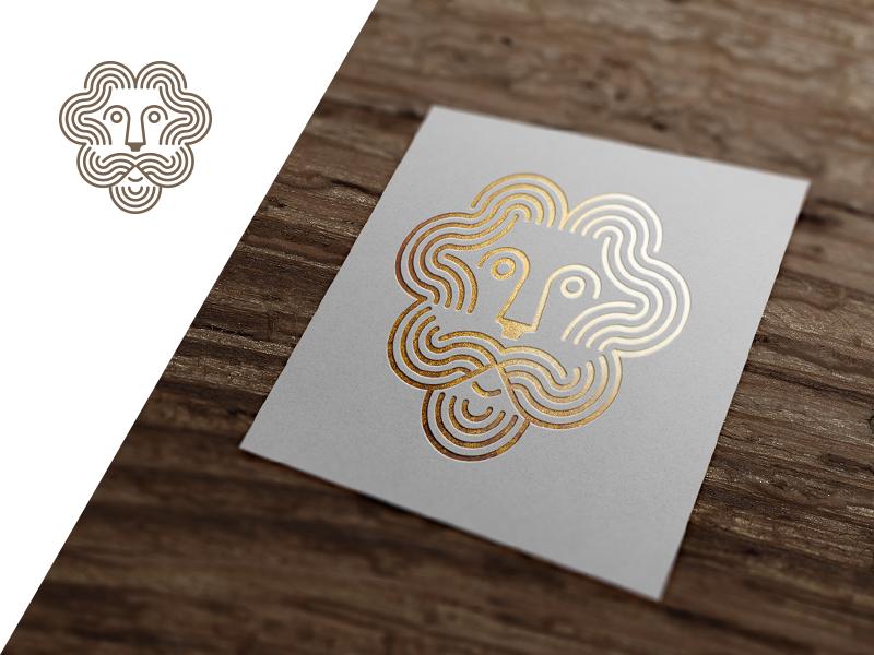 Foil gold lion