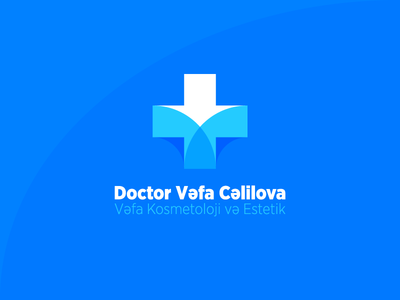 Vefa Cosmetic identity logo clean health care monogram v cross doctor doc specialist medic