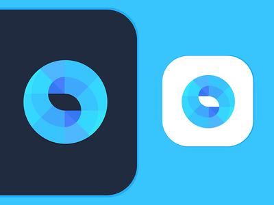 S Logo mark identity depth colors minimal simple shift swirl logo s