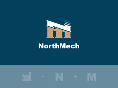 NorthMech logo monogram m n nm factory sweden northern mechanic mech north