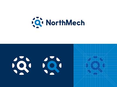 NorthMech icon logo shine user mechanic gear mind sun sweden staffing mech north