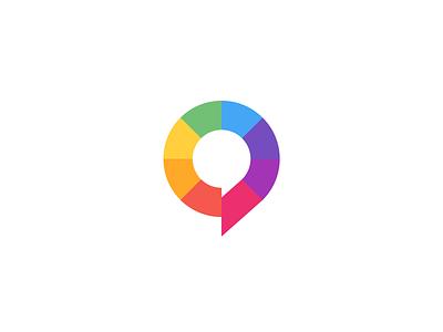 INTUO color talent identity fun appreciate bubble speak talk chat logo intuo