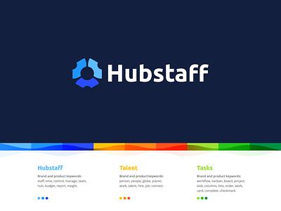 Hubstaff branding identity logo grid people fav star gear project talent user hubstaff