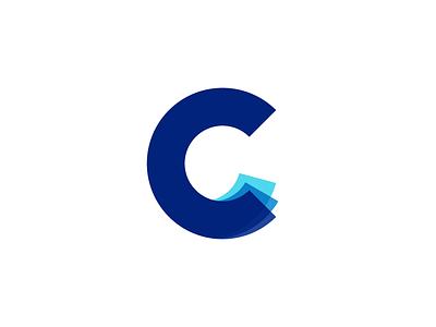 C - Part 2 logo monogram depth visual data paper fold folding layers layer c