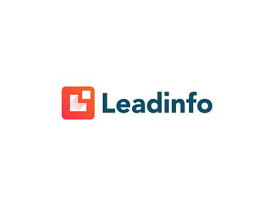 Leadinfo movement arrow monogram l business b2b data digital leadinfo logo info lead