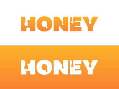 Honey Wordmark 🍯 wordmark gradient icon logo lettering letter liquid beehive hive bee honey h