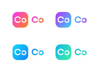 Co - Logo Design server internet connect liquid website web hosting host provider co o c