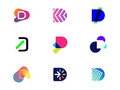 Logo Designs - Letter D code branding icon portfolio developer develop dev logo d letter