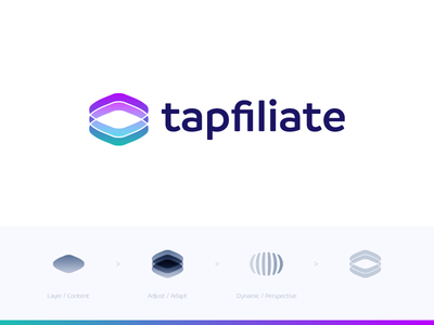 Tapfiliate - Logo Proposal (2) ad content fusion adapt build media grow loop stack logo affiliate tap