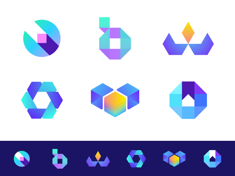 Crypto Educational - Logo Concepts coin bit monogram b educate breakthrough future currency crypto cryptocurrency binary