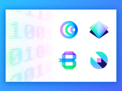 Binary Frontier - Logo Concepts coin bit monogram b educate breakthrough future currency crypto cryptocurrency binary