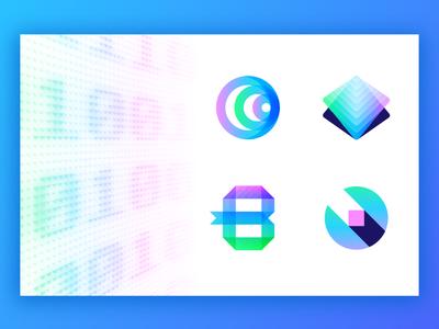 Binary Frontier - Logo Concepts