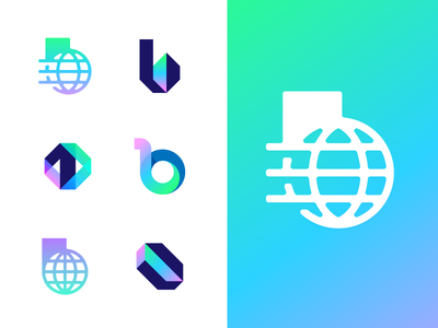 Binary Frontier - Part 2 world era gradient futuristic future monogram b 0 1 educate frontier binary