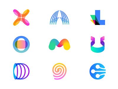 Logofolio Update 2018 icon branding concept futuristic future identity design logos jeroenvaneerden logo folio