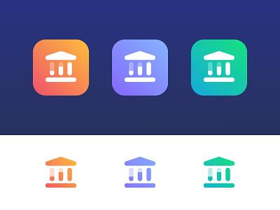Bank Data - Logo Concept pillar pay money trust analyze charts chart building finance bank data