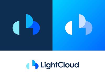 LightCloud identity branding icon logo hardware software monogram l hosting host cloud light