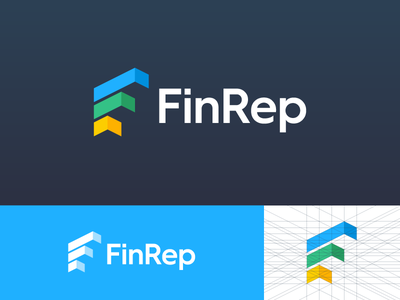 FinRep identity solutions reporting branding identity logo rep fin report finance