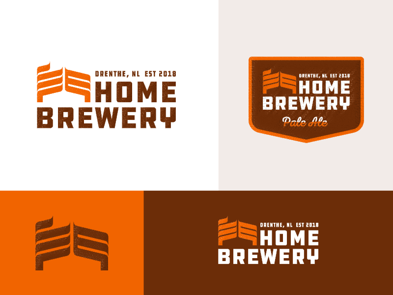 Home Brewery - Logo Design negative space kettle house brew dutch craft beer local identity logo brewery home