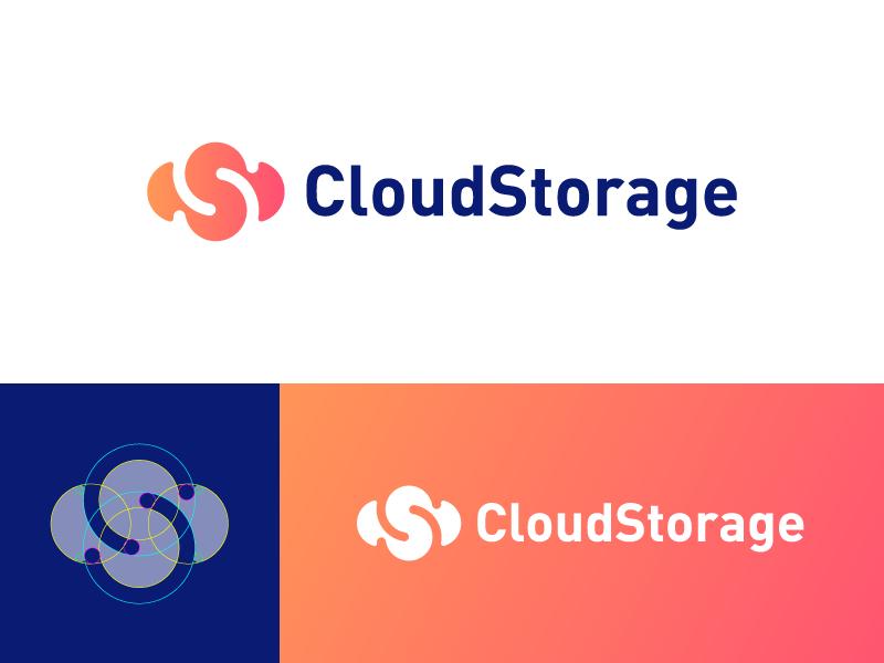 CloudStorage Logo Design memory cpu network hardware server monogram identity logo s c storage cloud