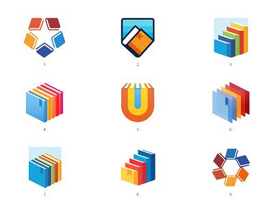 School Logos star collage badge education university identity mark read educate book badge school logo