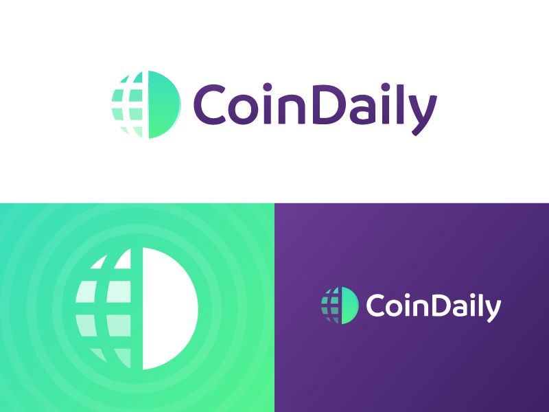 CoinDaily - Logo Design network globe logo exchange balance pay finance cryptocurrency currency crypto daily coin