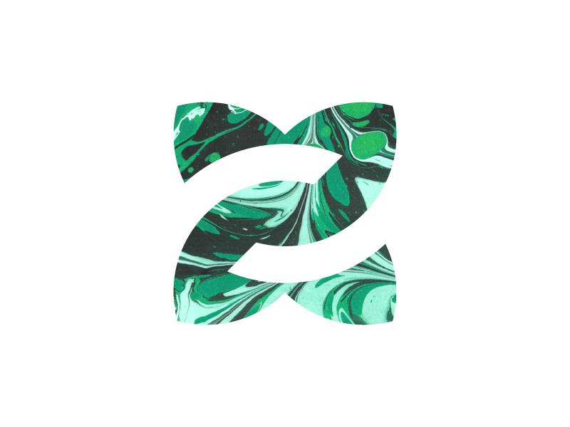Z for Zen identity negative space monogram organic vibrant fluent aura elements vibe z logo zen