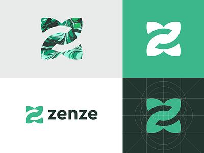 Zenze - Logo Design identity zenze sense organic vibrant fluent aura elements vibe z logo zen