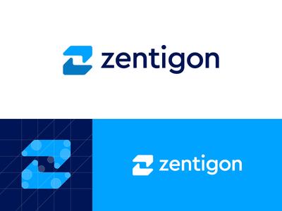 Zentigon - Logo Design typeface website create hold z hands share web logo gon zentigon zen