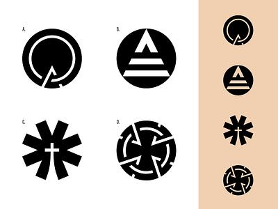 LeaderSource - Logo Marks people leaders focus up arrow healthy movement followers faith cross leader church