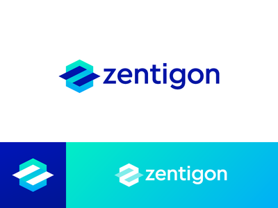 Zentigon - Logo Design platform math website create cube z abstract calculate logo gon zentigon zen