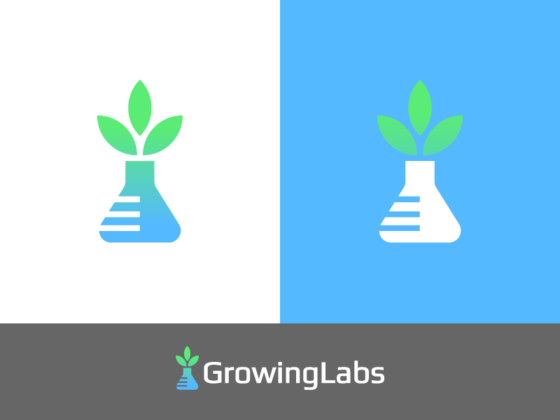 GrowingLabs - Logo 2 data tubes laboratories analysis e-commerce marijuana cannabis labs lab growing grow