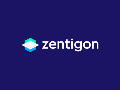 Zentigon - Logo Design arrow platform math website create cube abstract calculate logo gon zentigon zen