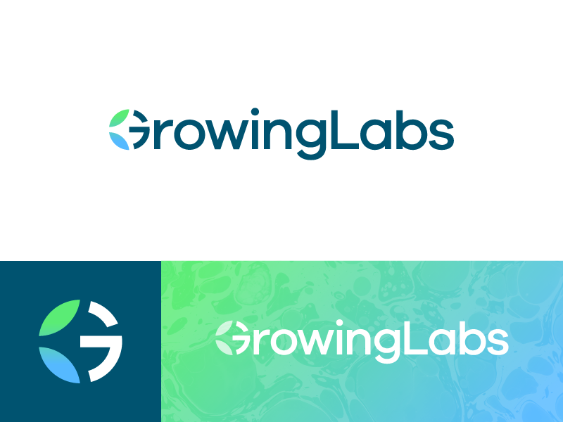 GrowingLabs - Logo 3 data tubes laboratories analysis e-commerce marijuana cannabis labs lab growing grow