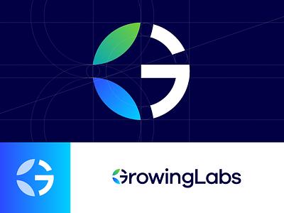 GrowingLabs - Logo Proposal data tubes laboratories analysis e-commerce marijuana cannabis labs lab growing grow