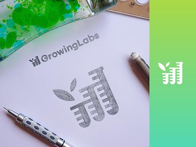 GrowingLabs - Approved Logo data tubes laboratories analysis e-commerce marijuana cannabis labs lab growing grow